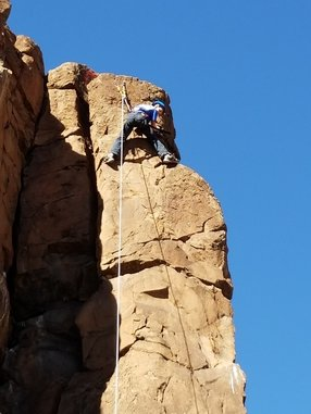 rock climbing at a coming of age