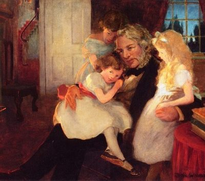 father with daughters