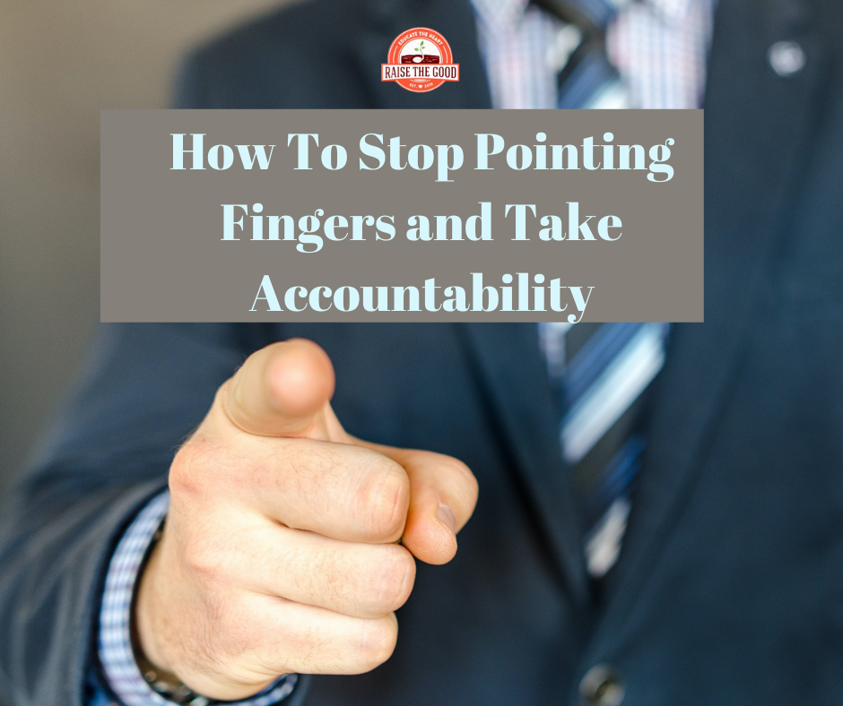 fingers pointing for accountability